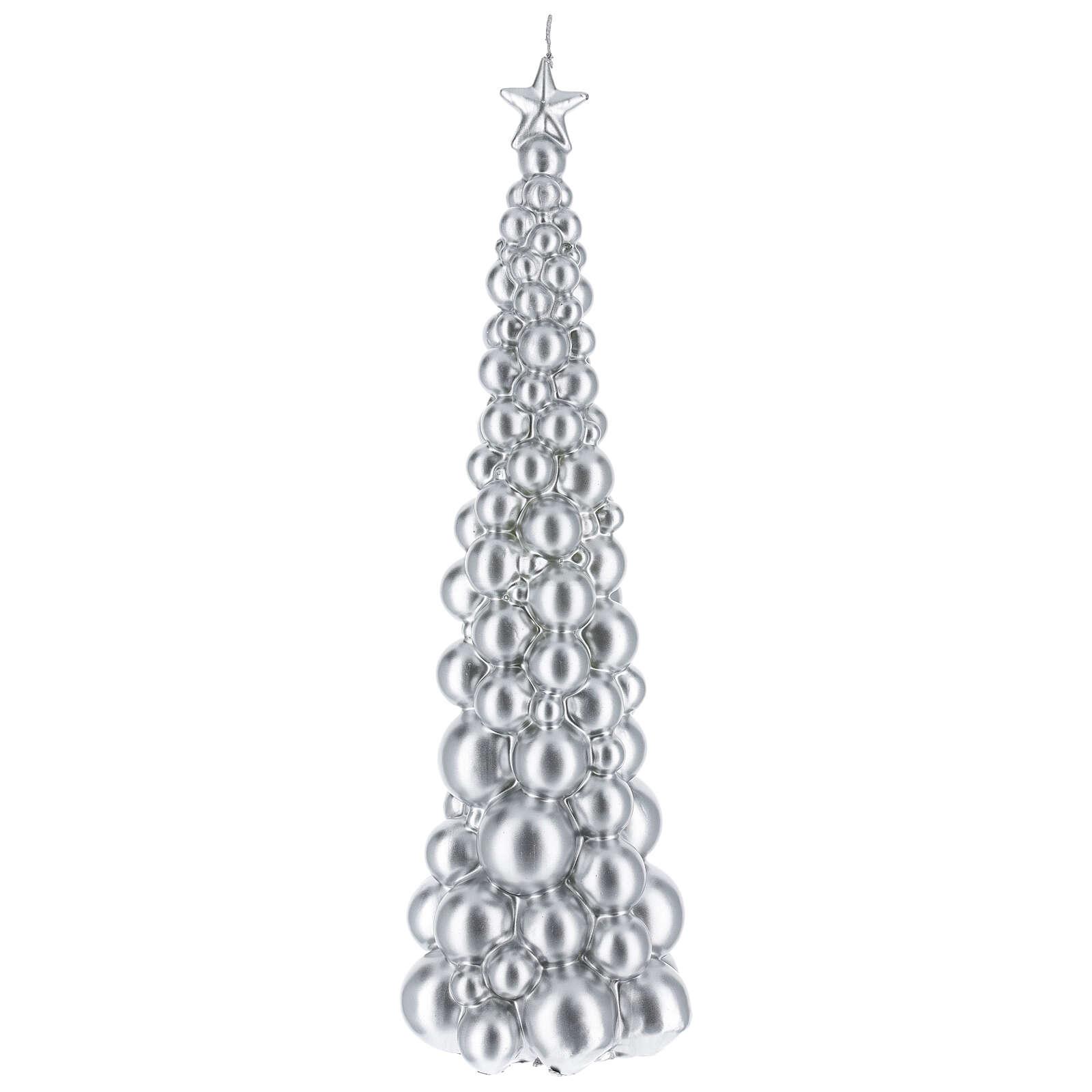 Vela de Natal árvore prateada modelo Moscovo 47 cm 3