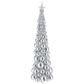 Vela de Natal árvore prateada modelo Moscovo 47 cm s1
