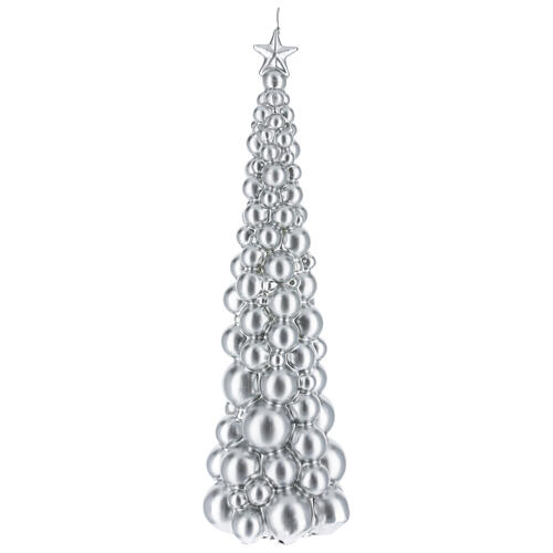 Vela de Natal árvore prateada modelo Moscovo 47 cm 1