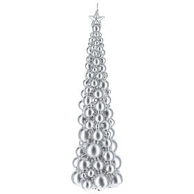 Christmas candle Moscow tree silver finish 18 1/2 in s1