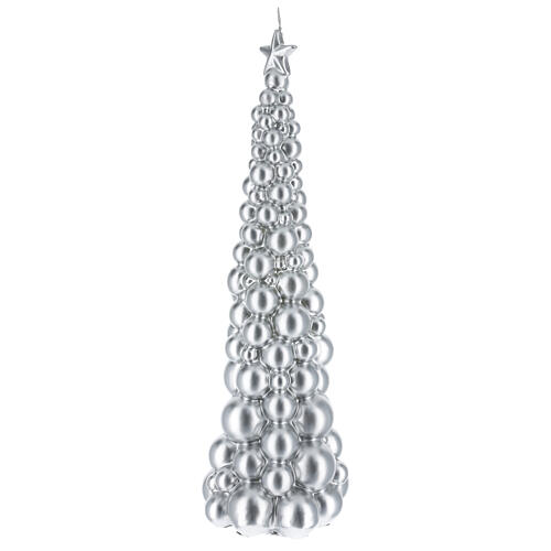 Christmas candle Moscow tree silver finish 18 1/2 in 2