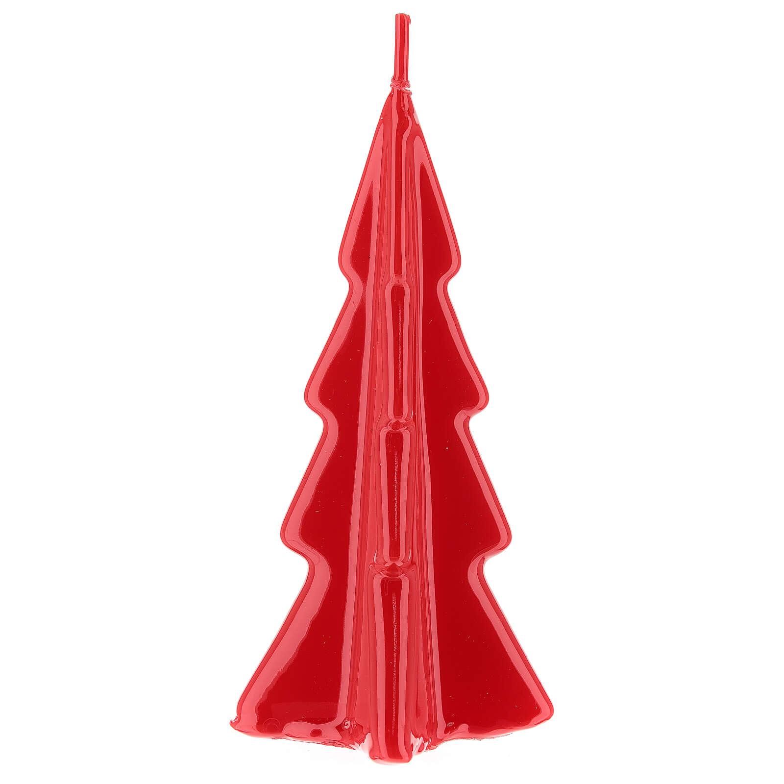 Candela natalizia albero Oslo rosso 16 cm 3