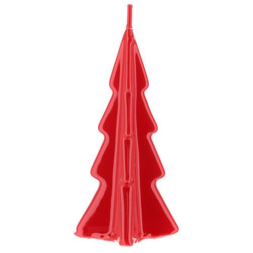 Candela natalizia albero Oslo rosso 16 cm 2