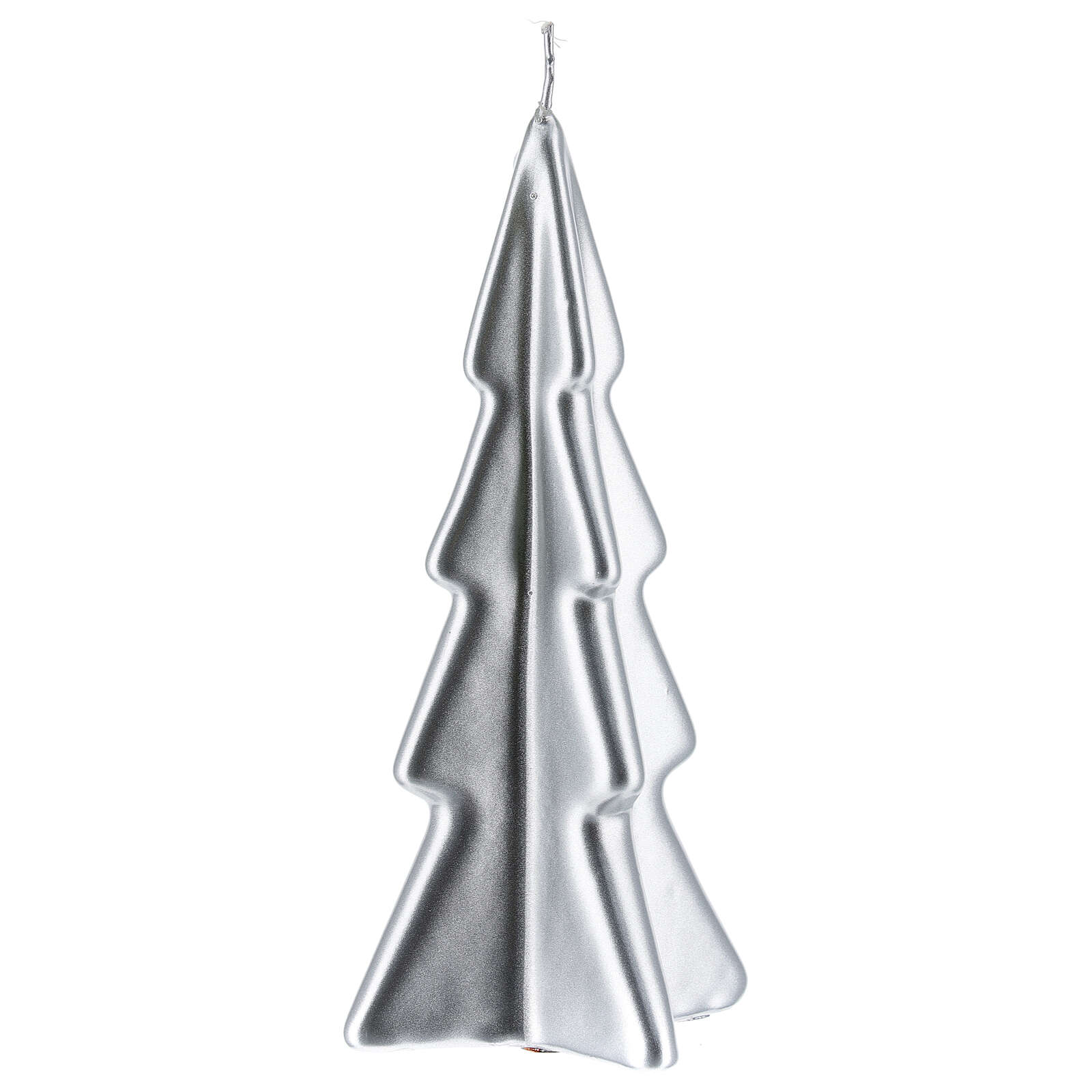 Silver tree Christmas candle Oslo 6 in 3