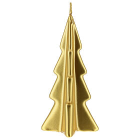 Gold tree Christmas candle Oslo 6 in s2