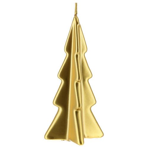 Vela navideña árbol Oslo oro 16 cm 1