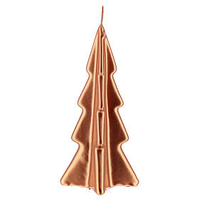 Copper tree Christmas candle Oslo 6 in s2