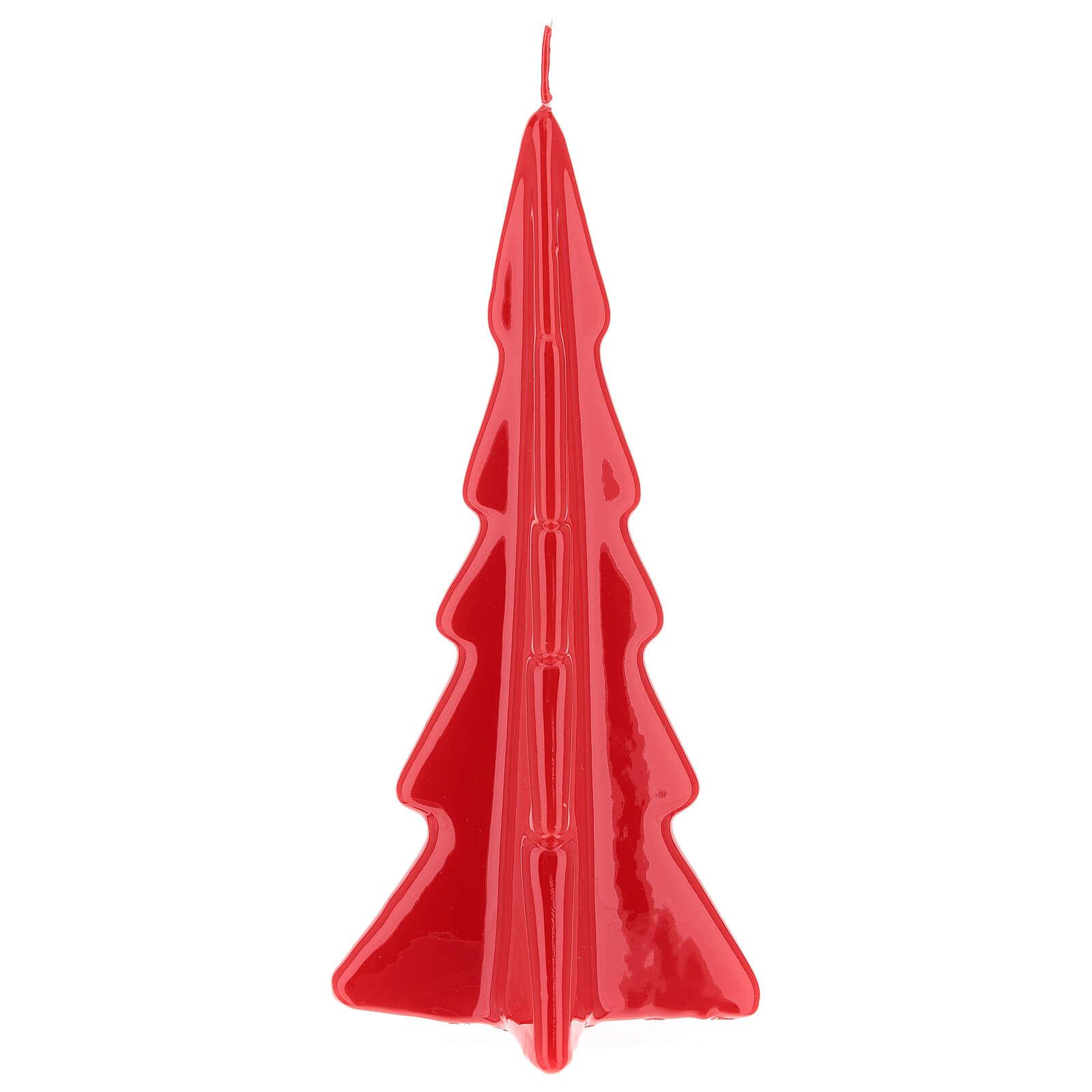 Candela natalizia albero Oslo rosso 20 cm 3