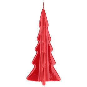 Candela natalizia albero Oslo rosso 20 cm s2