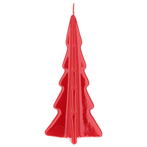 Vela de Natal árvore vermelha modelo Oslo 20 cm 2