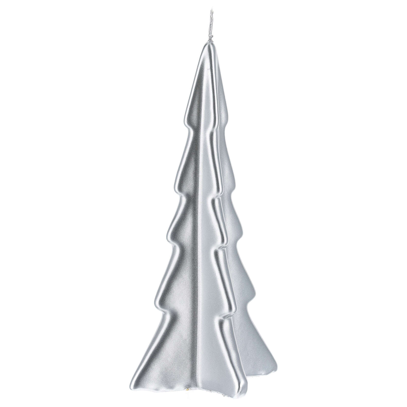 Silver tree Oslo Christmas candle 8 in 3