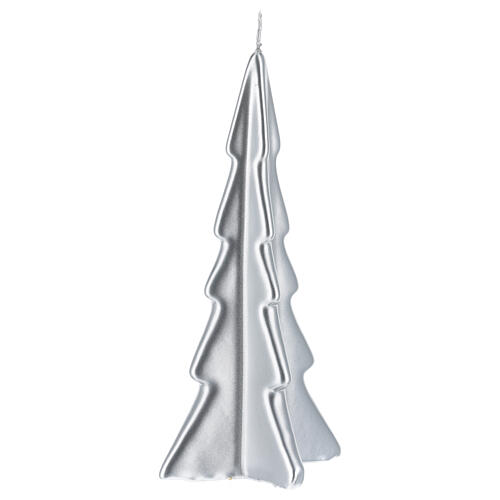 Silver tree Oslo Christmas candle 8 in 1