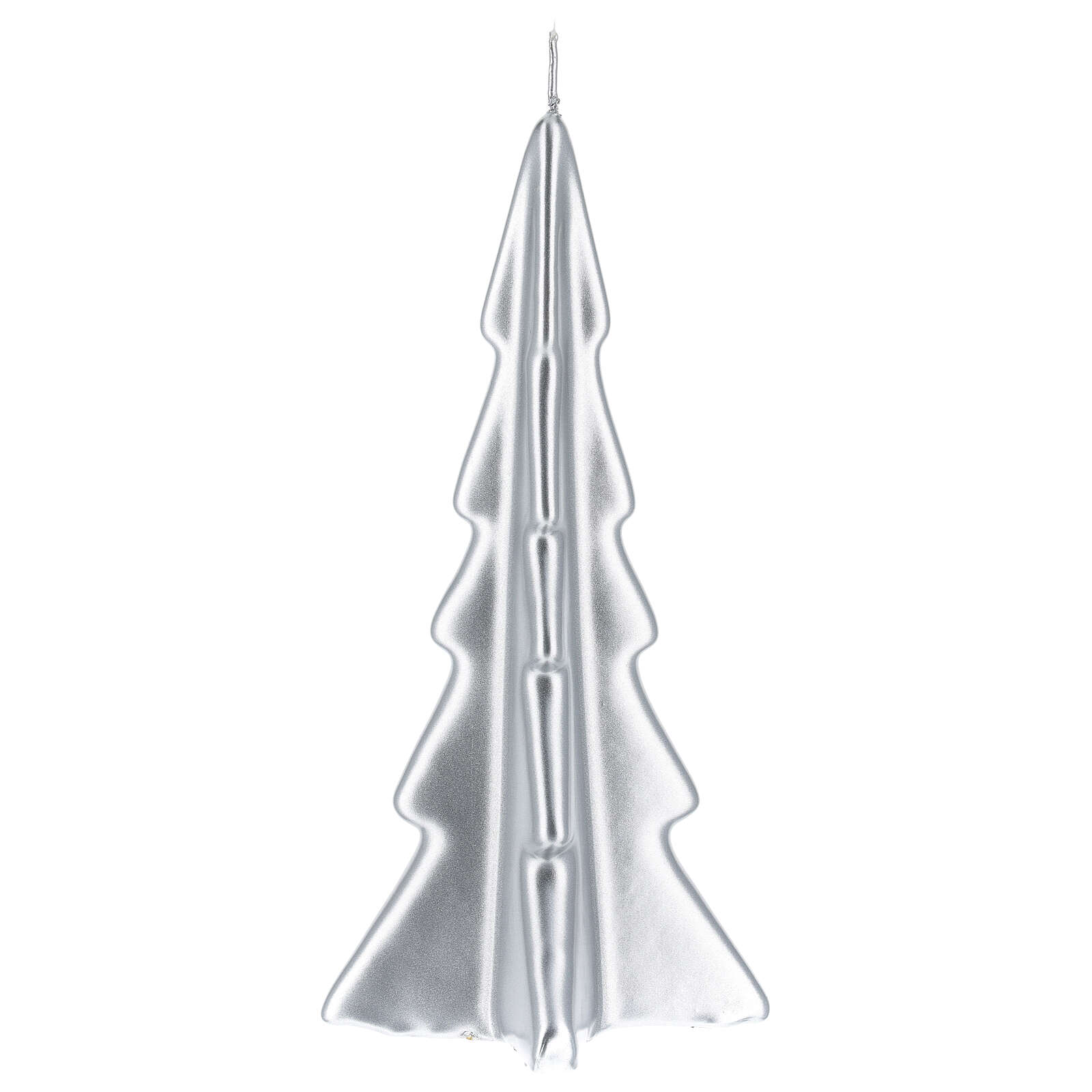 Candela natalizia albero Oslo argento 20 cm 3