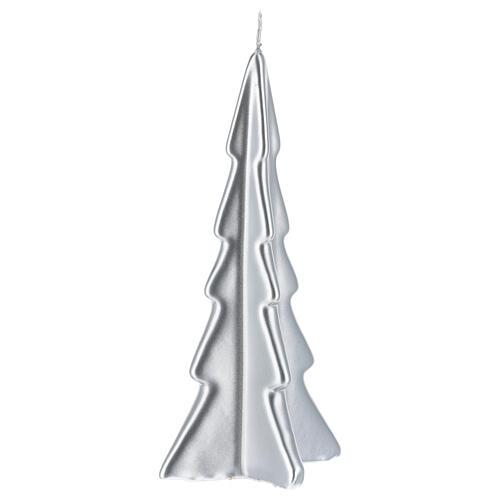Candela natalizia albero Oslo argento 20 cm 1
