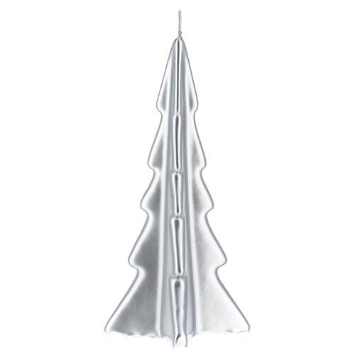 Vela de Natal árvore prateada modelo Oslo 20 cm 2