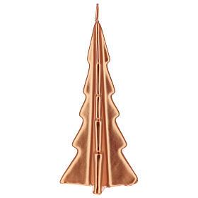 Vela de Natal árvore cor cobre modelo Oslo 20 cm s2
