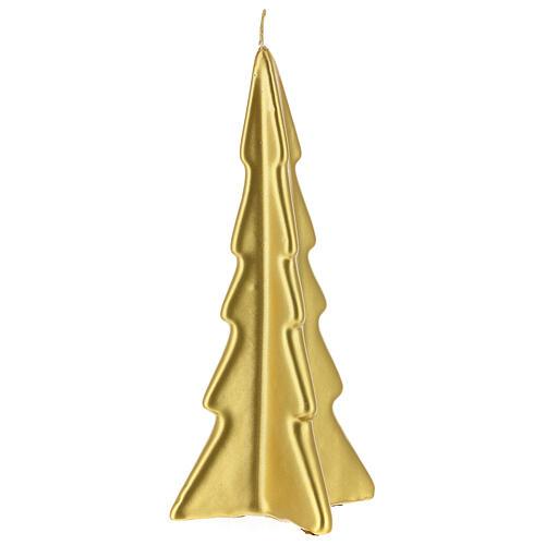 Vela navideña árbol Oslo oro 20 cm 1