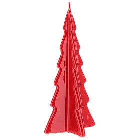 Red tree Oslo Christmas candle 10 in s1
