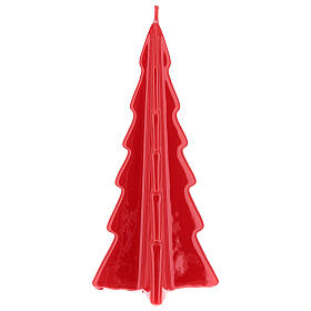 Red tree Oslo Christmas candle 10 in s2