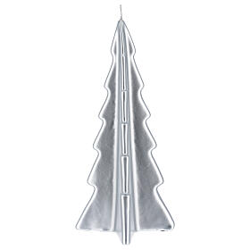Silver tree Oslo Christmas candle 10 in s2