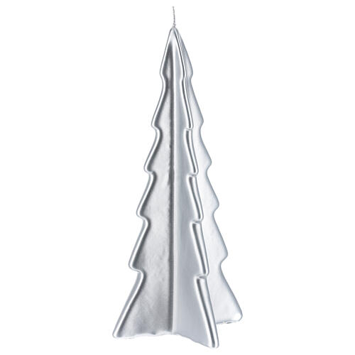 Silver tree Oslo Christmas candle 10 in 1