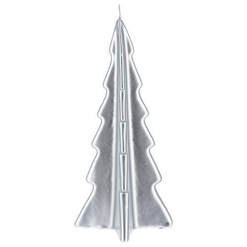 Silver tree Oslo Christmas candle 10 in 2
