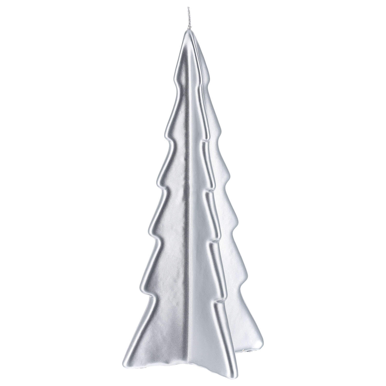 Candela natalizia albero Oslo argento 26 cm 3