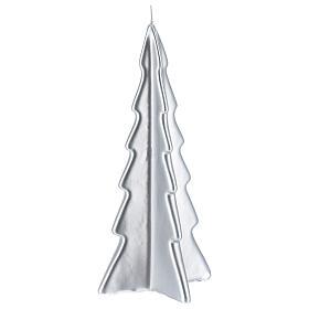 Candela natalizia albero Oslo argento 26 cm s1