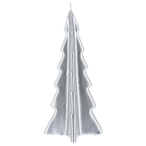 Candela natalizia albero Oslo argento 26 cm 2