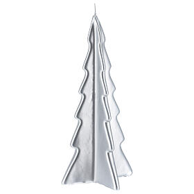 Silver tree Oslo Christmas candle 10 in s1