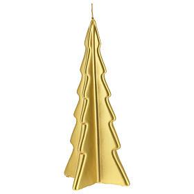 Candela natalizia albero Oslo oro 26 cm s1