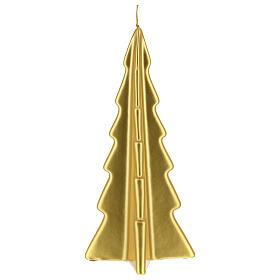 Candela natalizia albero Oslo oro 26 cm s2