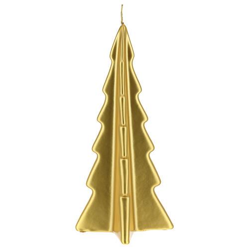 Candela natalizia albero Oslo oro 26 cm 2