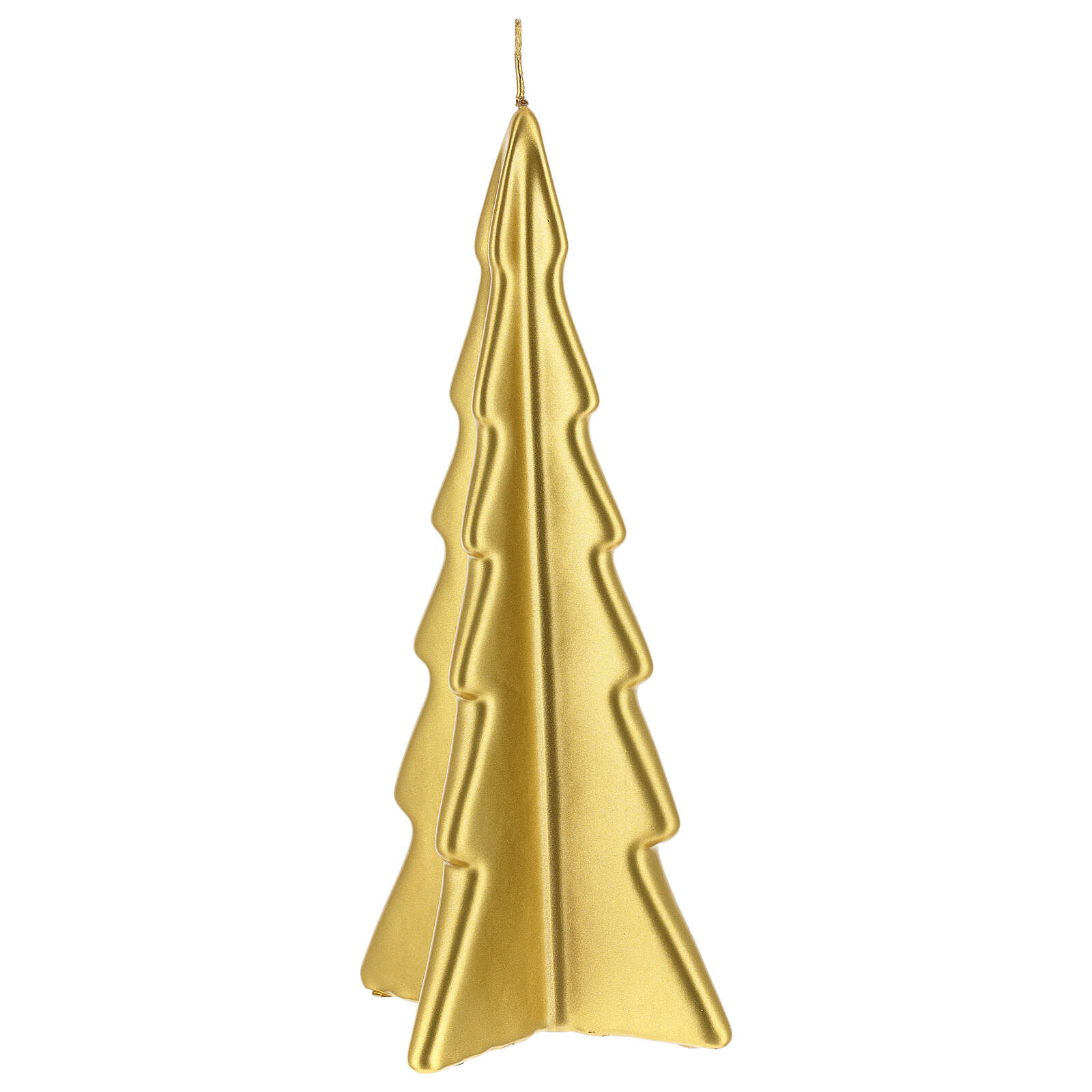 Vela de Natal árvore dourada modelo Oslo 26 cm 3