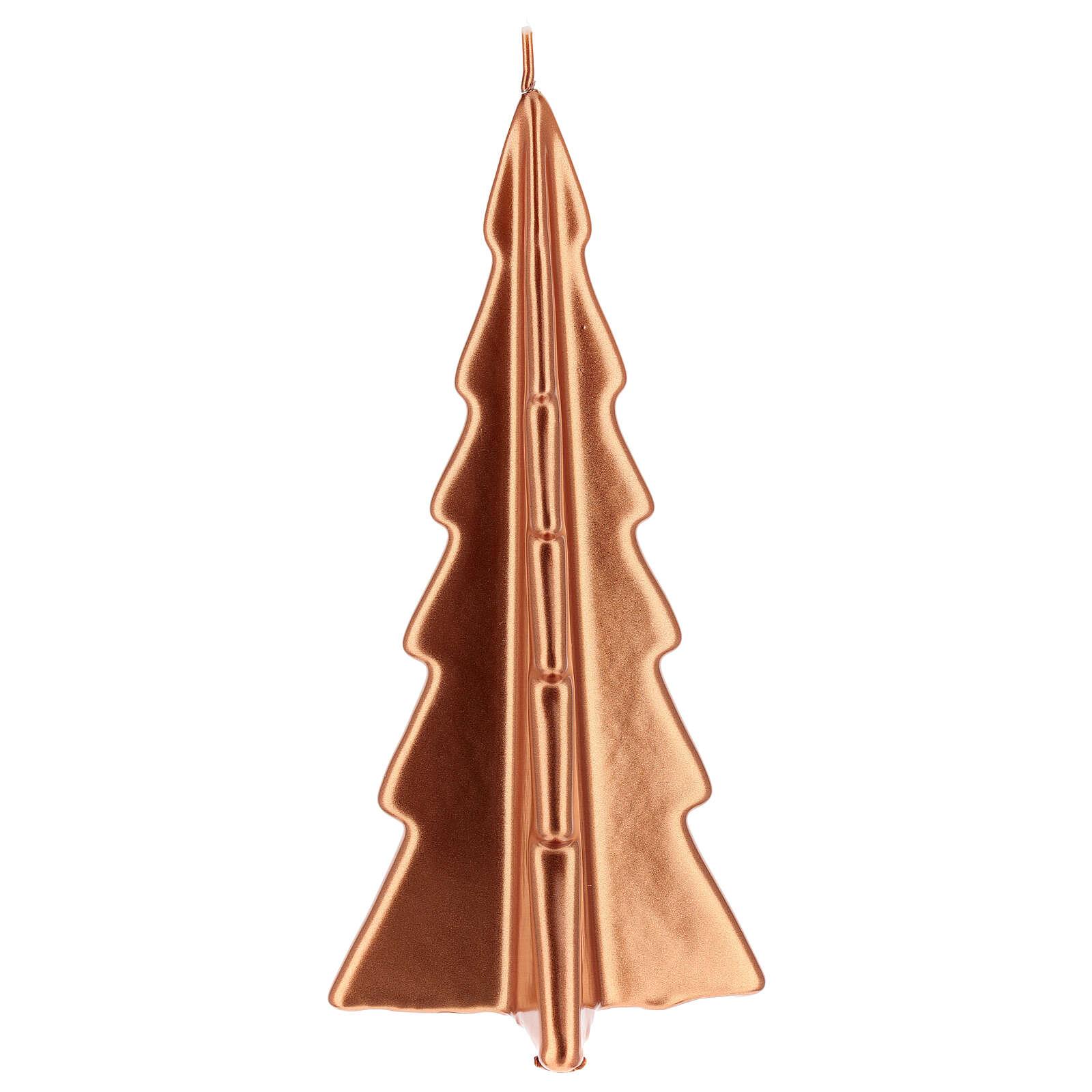 Candela natalizia albero Oslo rame 26 cm 3