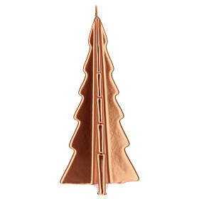 Vela de Natal árvore cor cobre modelo Oslo 26 cm s2