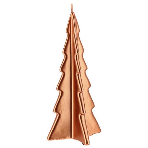 Vela de Natal árvore cor cobre modelo Oslo 26 cm 1