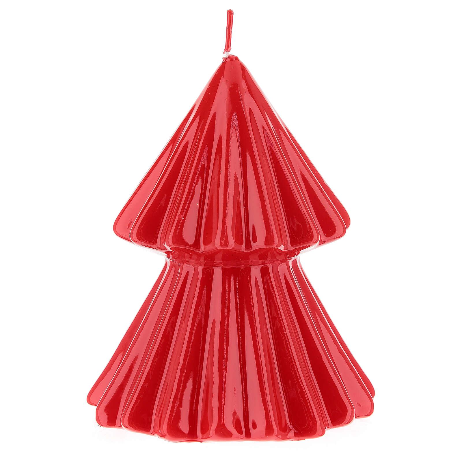 Vela de Natal árvore vermelha modelo Tokyo 12 cm 3