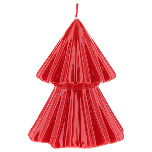 Vela de Natal árvore vermelha modelo Tokyo 12 cm 1