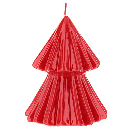 Vela de Natal árvore vermelha modelo Tokyo 12 cm 2