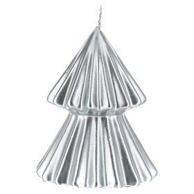 Candela natalizia albero Tokyo argento 12 cm s2