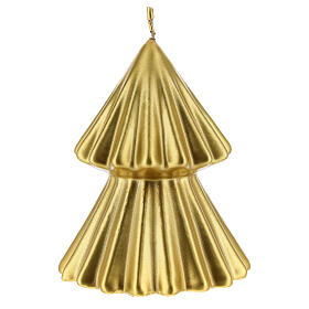 Golden Christmas tree candle Tokyo 5 in s1