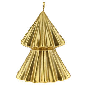 Golden Christmas tree candle Tokyo 5 in s2