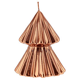 Copper Christmas tree candle Tokyo 5 in s1