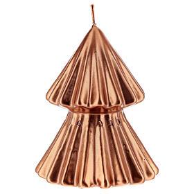 Vela navideña árbol Tokyo cobre 12 cm s1