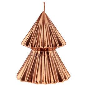 Vela navideña árbol Tokyo cobre 12 cm s2