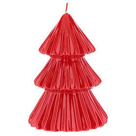 Vela navideña árbol Tokyo rojo 17 cm s2