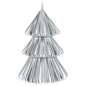 Vela de Natal árvore prateada modelo Tokyo 17 cm s2