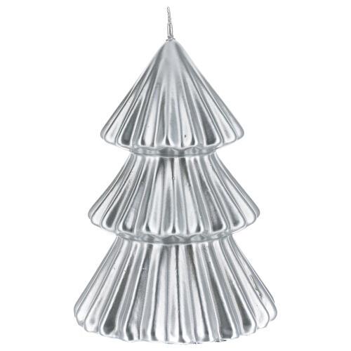 Vela de Natal árvore prateada modelo Tokyo 17 cm 1