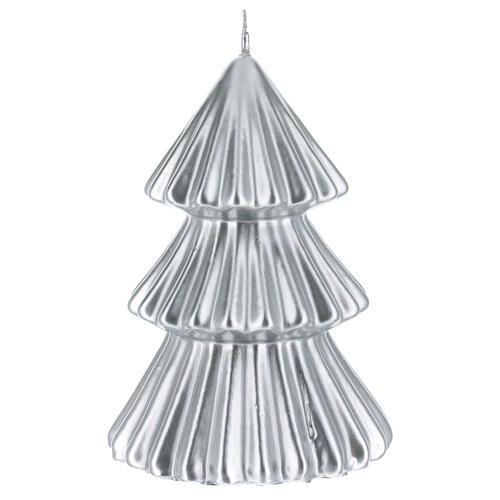 Vela de Natal árvore prateada modelo Tokyo 17 cm 2